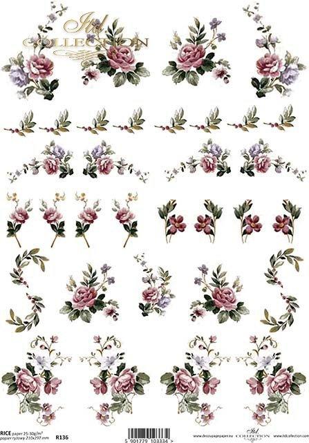 papier-ryżowy-kwiaty-pączki-liście-listki-róża-róże-ogród-R0136