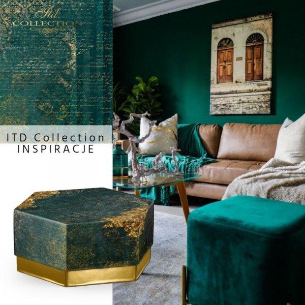 Papier-decoupage-dekory-ornamenty-stare-pismo-zielen-złoto-decors-ornaments-old-letter-gold-2