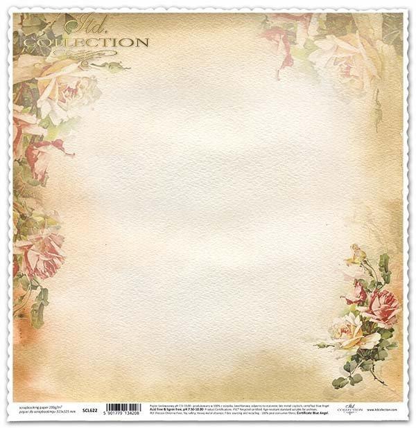 papel para scrapbooking, flores, rosas*бумага для скрапбукинга, цветы, розы*Papier für das Scrapbooking, Blumen, Rosen