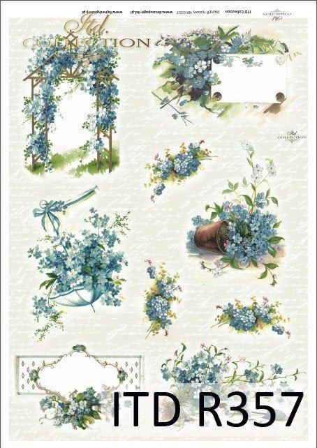 kwiat, kwiaty, kwiat niezapominajka, niezapominajki, bukiet, bukiety, kosz kwiatów, koszyki, R357