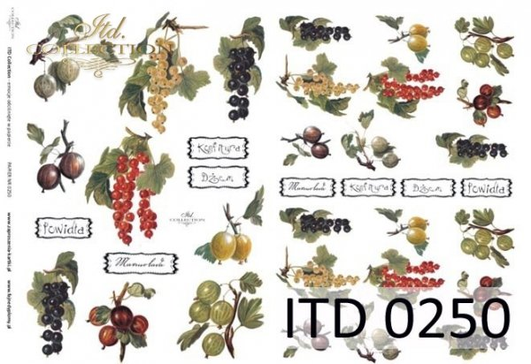 бумага для декупажа классическая D0250
