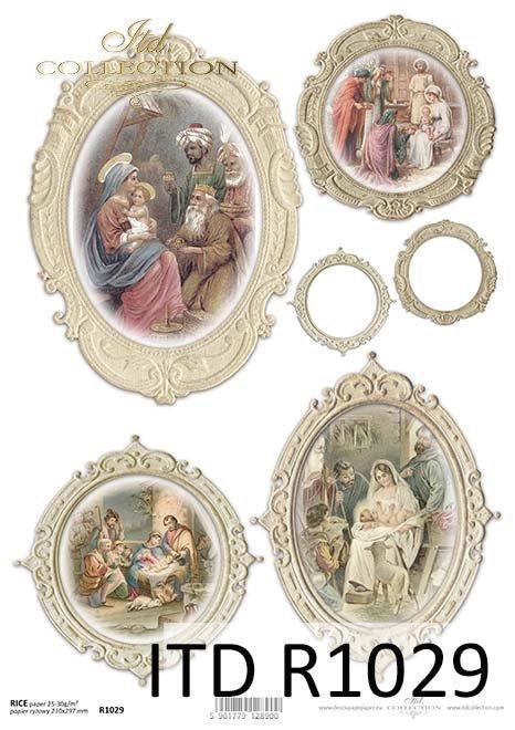 papier decoupage Święta Rodzina*paper decoupage Holy Family