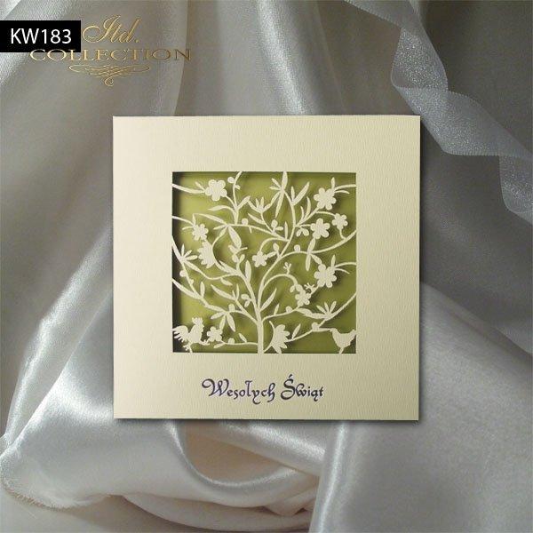 Пасхальная открытка с конвертом KW183