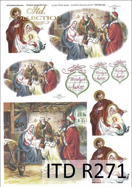 Święta Rodzina, Żłóbek, Stajenka, Boże Narodzenie, Trzech Króli, anioł, Dzieciątko Jezus, R271
