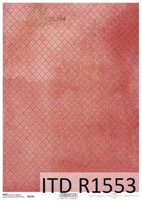 Papier decoupage koralowo-czerwone tło*Decoupage paper coral-red background