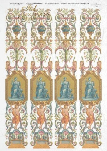 papier ryżowy decoupage - ornamenty, Vintage*papel de arroz decoupage - adornos, Vintage