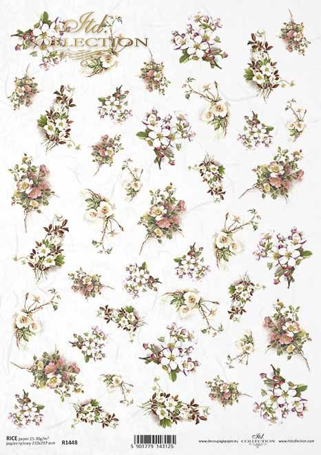 flores, rosa salvaje, flor de cerezo, pequeños elementos*Blumen, wilde Rose, Kirschblüte, kleine Elemente*цветы, дикая роза, вишня, маленькие элементы