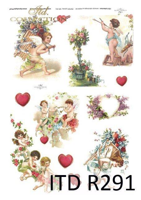 zakochani, Walentynki, serduszka, serduszko, serce, amor, amorek, R291