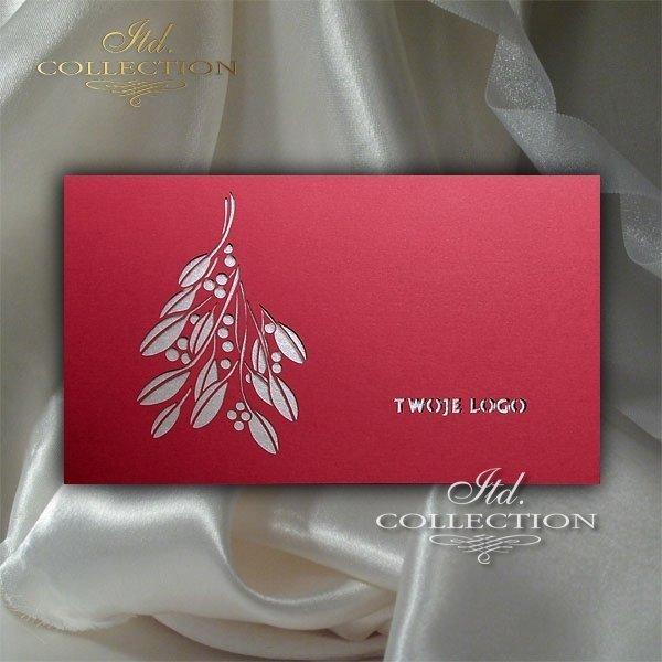 Рождественская и Новогодняя открытка K468-J