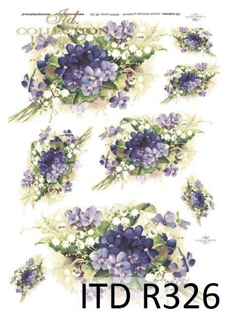 wiosna, kwiaty, kwiatki, fiołki, konwalie, R326