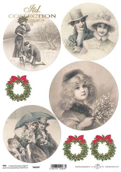 бумага для новогодних и рождественских шаров TAG0097