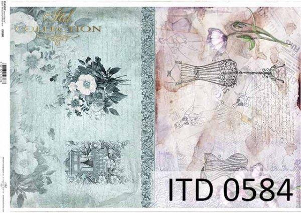 papier decoupage kwiaty, dekora, okno w kwiatach, manekin, gorset*paper decoupage flowers, decor, window in flowers, mannequin, corset
