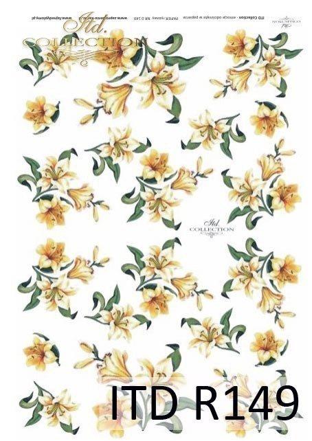 papier-ryżowy-decoupage-kwiaty-lilia-lilie-lilii-ogród-R149
