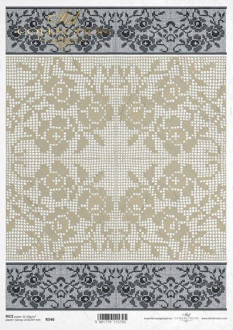 lace, hand-made, handmade, R546