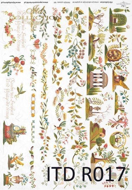 papier ryżowy decoupage - motywy dekoracyjne z ubrań*rice paper decoupage - decorative motifs from clothes