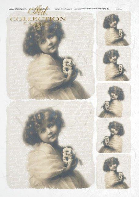 old pictures, children's portrait, children, retro, R261