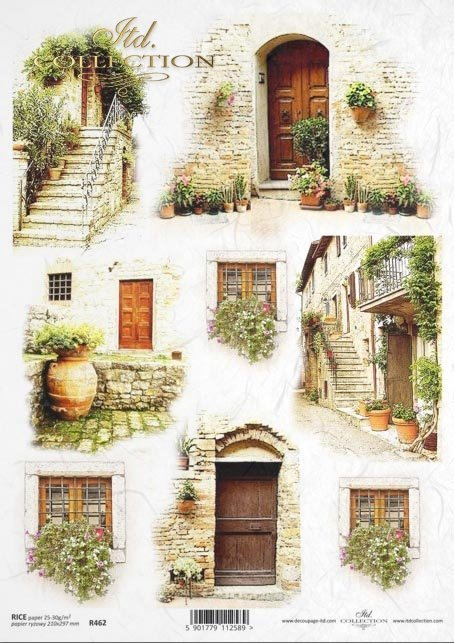 window, doors, balcony, stairs, flowers, small architecture, architectural elements