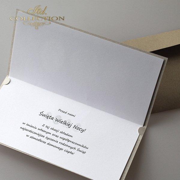 Пасхальная открытка с конвертом KW219