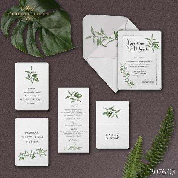 Zaproszenie 2076 * Zaproszenia ślubne * menu * winietka * koperta z wklejką - wersja 3