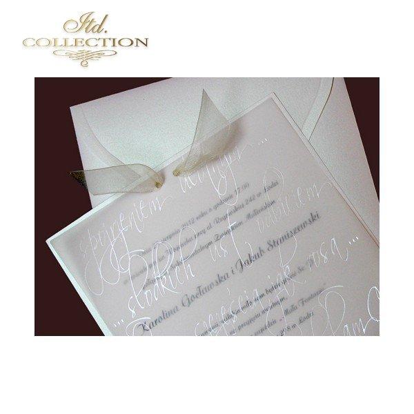 Einladungskarten / Hochzeitskarte 1455