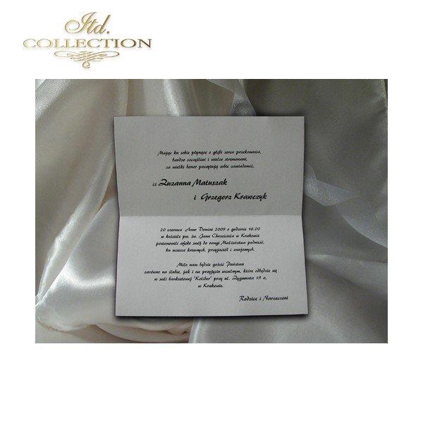 Einladungskarten / Hochzeitskarte 1688