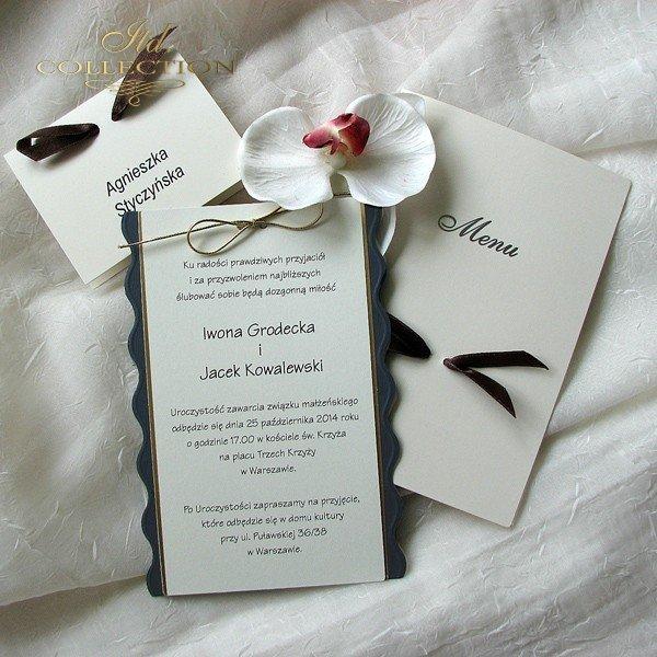 Einladungskarten / Hochzeitskarte 0235_G