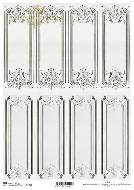 Mini seria Tekstury i Ornamenty: boczki na szkatułki, panel, sztukateria, panel francuski, retro, Vintage