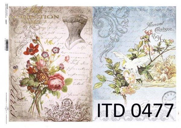 Decoupage paper ITD D0477M