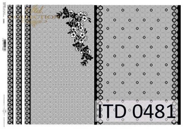 Decoupage paper ITD D0481M