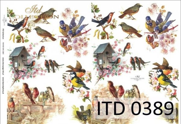 Decoupage paper ITD D0389M