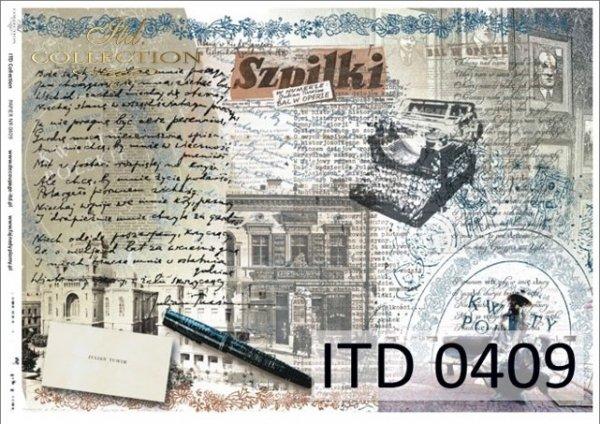 Decoupage paper ITD D0409M