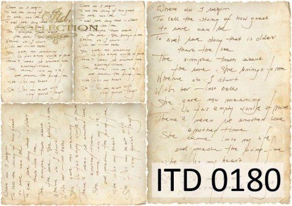 Decoupage paper ITD D0180M