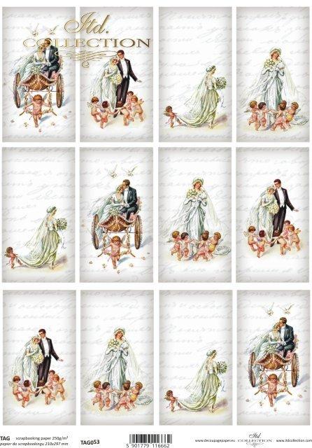 scrapbooking, TAG, labels, pendants, bride, groom, newlyweds