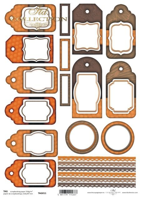 Tags, frames to scrapbooking TAG0011