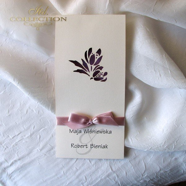 Invitations / Wedding Invitation 01722_71_violet