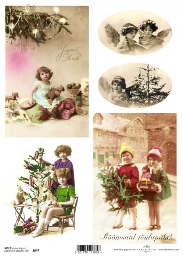 children, Christmas, Christmas decorations, Christmas, winter, retro, Christmas tree, gifts