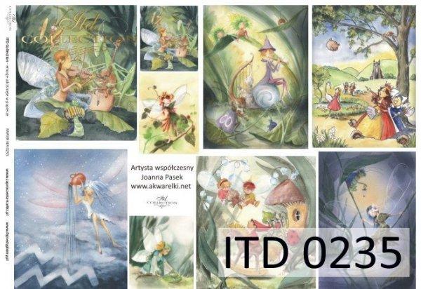 Decoupage paper ITD D0235M