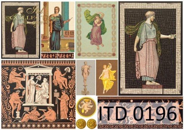 Decoupage paper ITD D0196M