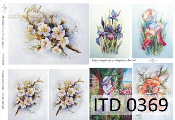 Decoupage paper ITD D0369M