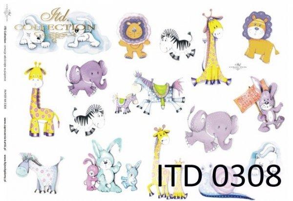 Decoupage Paper ITD D0308M