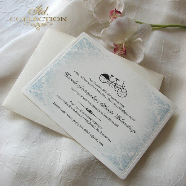 Invitations / Wedding Invitation 01738_bike