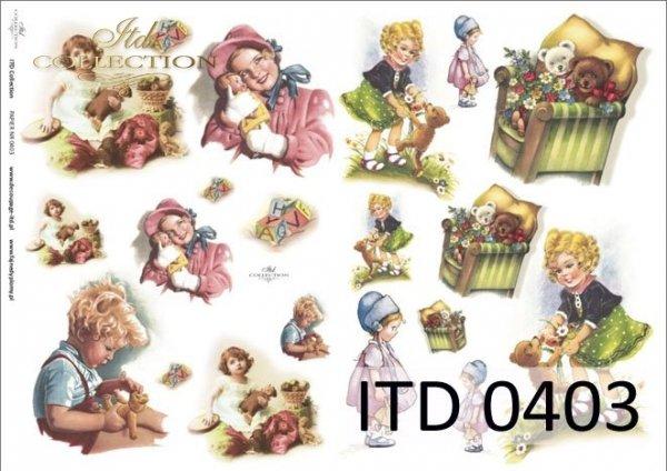 Decoupage paper ITD D0403