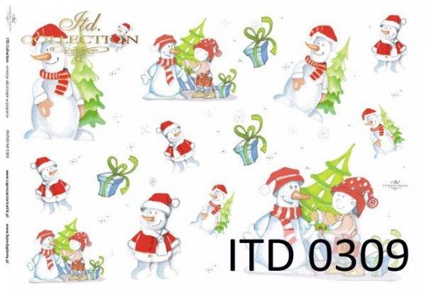 Decoupage paper ITD D0309M
