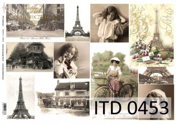 Decoupage paper ITD D0453M