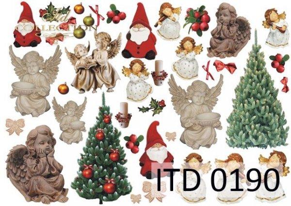 Decoupage paper ITD D0190M