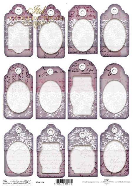 Tags, frames to scrapbooking TAG0019