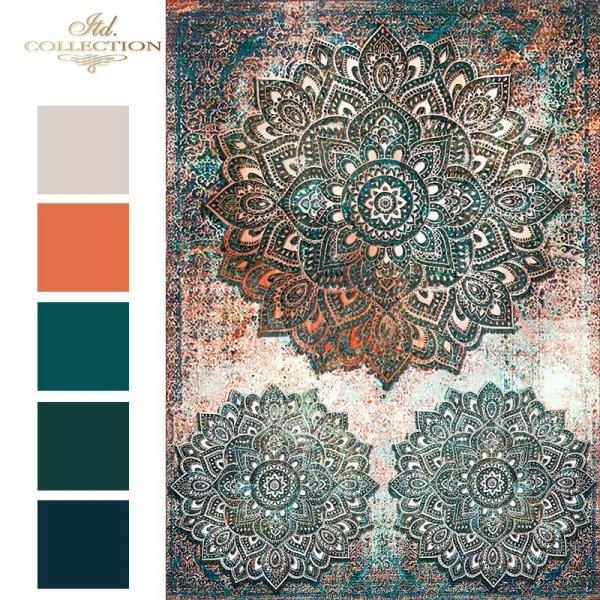 R1589--wzor-tapetowo-dywanowy-idealny-jako-Mandala-w-pieknych-turkusach-z-rdzawymi-przetarciami-3