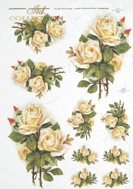 tea bright roses in bouquets. Slightly yellow roses, different sizes, rose, roses