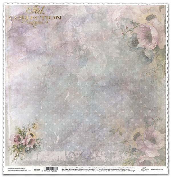 Duplex-Papier für das Scrapbooking mit Blumen*Duplex Papír na scrapbooking s květinami*Dúplex Papel para álbumes de recortes con flores