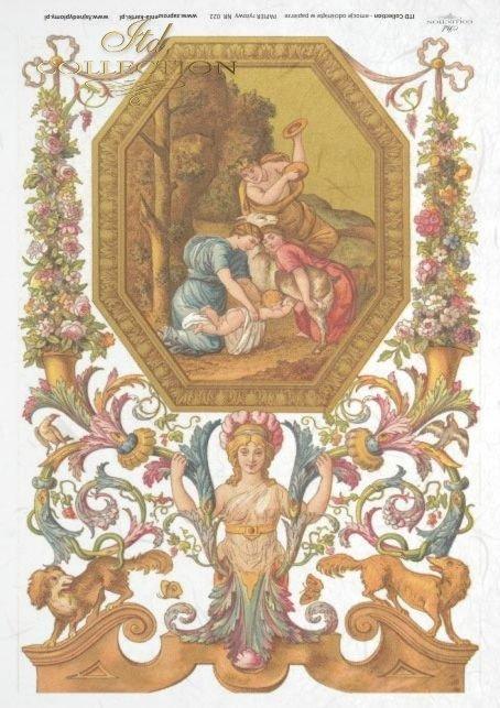 flower, flowers, decoration, decorations, ornament, ornaments, retro, vintage, tapestry, R022